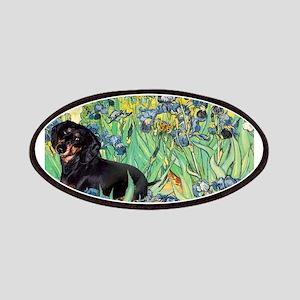 8x10-Irises-Dachs-Blk4 Patches