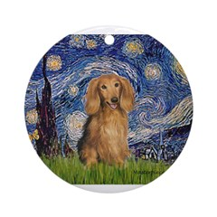 MP-STARRY-LHDachs-SABLE.png Ornament (Round)