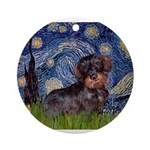 MP--Starry-WDachs2 Ornament (Round)