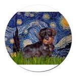 MP--Starry-WDachs2 Round Car Magnet