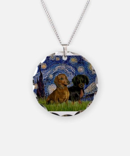 5.5x7.5-StarryNight-DachsPR-1.png Necklace