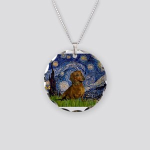 MP-Starry-Dachs-Brwn1 Necklace Circle Charm