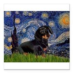 5.5x7.5Starry-Dachs16 Square Car Magnet 3