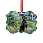 MP-BRIDGE-Dobie1 Picture Ornament