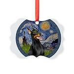 8x10-Starry-Dobie1 Picture Ornament