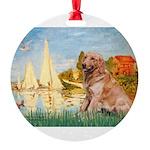 MP-Sailbts2-Golden1 Round Ornament