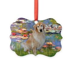MP-Lilies-GoldBoomr Ornament