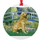 MP-BRIDGE-Golden-Banjo-Light Round Ornament