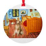 5.5x7.5-ROOM-Golden5j Round Ornament
