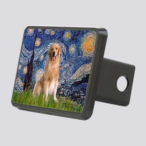 5.5x7.5-Starry-Golden8 Rectangular Hitch Cover