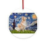 MP-Starry-GoldBoomr Ornament (Round)