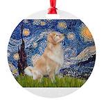 MP-Starry-GoldBoomr Round Ornament