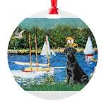 TILE-Sailbts-LAB1 Round Ornament