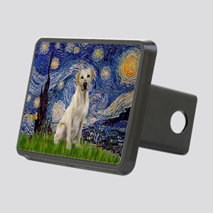 Starry Night Yellow Lab Rectangular Hitch Cover