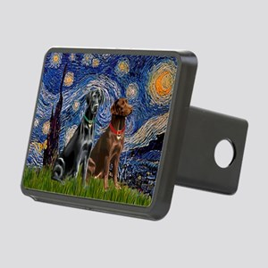 Starry Night - Two Labradors (Chocolate and Re