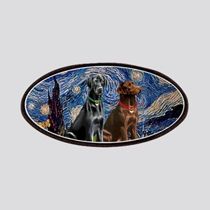 Starry Night - Two Labradors (Chocolate and Pa
