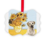 Sunflowers-YellowLab7 Picture Ornament