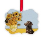 Sunflowers / Choc Lab 11 Picture Ornament