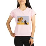 Sunflowers / Choc Lab 11 Performance Dry T-Shirt