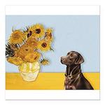 Sunflowers / Choc Lab 11 Square Car Magnet 3