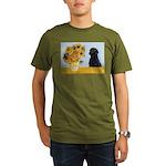 5.5x7.5-Sunflwrs-BlkLab4 Organic Men's T-Shirt