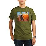 ROOM-Newfie-Brown2 Organic Men's T-Shirt (dark