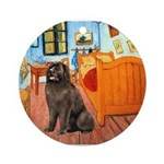 ROOM-Newfie-Brown2 Ornament (Round)