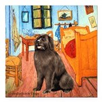 ROOM-Newfie-Brown2 Square Car Magnet 3