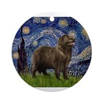 MP-STARRY-Newfie-Brownstand.png Ornament (Round)