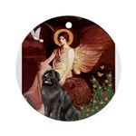 MP-ANGEL1-Newfie-Blk2 Ornament (Round)