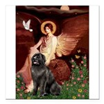 MP-ANGEL1-Newfie-Blk2 Square Car Magnet 3