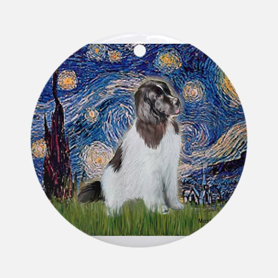 STARRY-Newfie-Landseer4.png Ornament (Round)