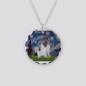 STARRY-Newfie-Landseer4 Necklace Circle Charm