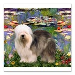 TR-Lilies2-OES-stand-eyeshid Square Car Magnet