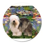 TR-Lilies2-OES-stand-eyeshid Round Car Magnet