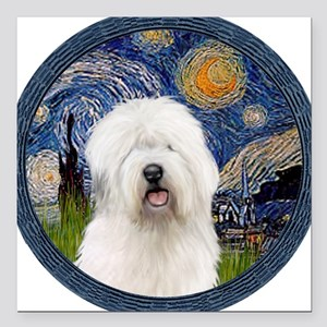 "5.5x7.5-Starry-OES6 Square Car Magnet 3"" x 3"""