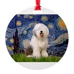 5.5x7.5-Starry-OES6 Round Ornament