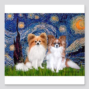 "STARRY-PapiPAIR-both Square Car Magnet 3"" x 3"""