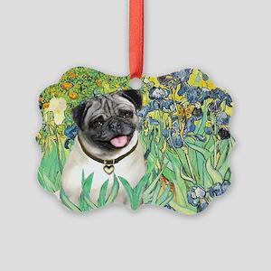 IRISES-Pug18-fawnsmile Picture Ornament