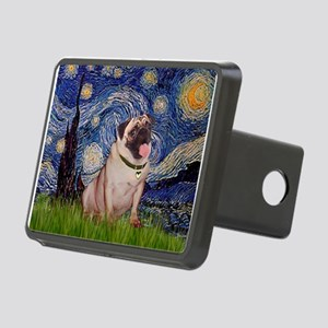 MP-STARRY-Pug2-fawn Rectangular Hitch Cover