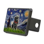 MP-STARRY-Pug-Blk14 Rectangular Hitch Cover