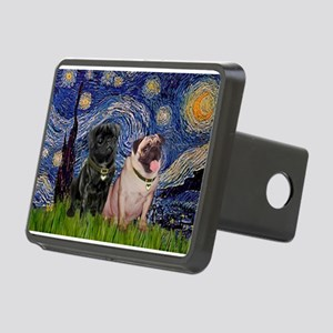 5x7-Starry-PugPair Rectangular Hitch Cover