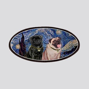 5x7-Starry-PugPair Patches