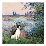 Rat Terrier - By the Seine Square Car Magnet 3