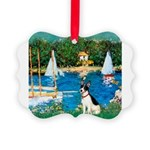 Rat Terrier - Sailboats Picture Ornament