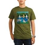 Rat Terrier - Sailboats Organic Men's T-Shirt