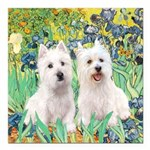 Irises-Westies 3and11-smaller Square Car Magne