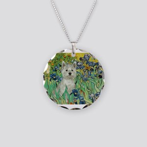 5.5x7.5-Irises-WestieSab Necklace Circle Charm