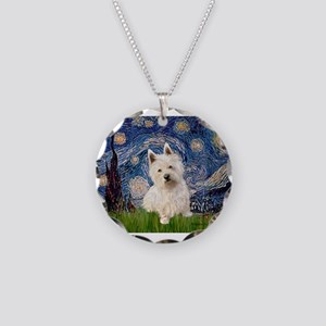 MP-STARRY-Westie1 Necklace Circle Charm