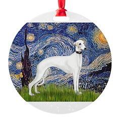 MP-Starry-Whippet11B-Delta Ornament